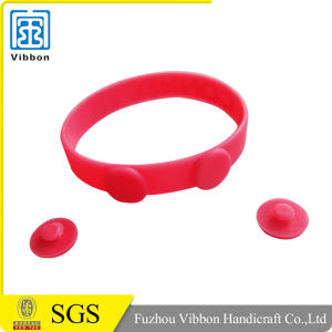 Customized Debossed or Printed Your Logo Silicone Wristband pictures & photos