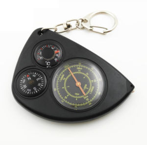 3 in 1 Portable Keychain OEM Odometer Thermometer Compass Milometer pictures & photos