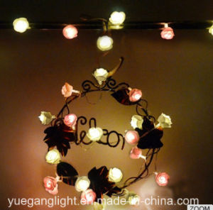 Ce & RoHS Waterproof Lights Chain with Paper Rose pictures & photos