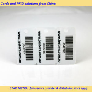 Full Colors Plastic 3 Key Fobs in 1 Card with Barcode pictures & photos
