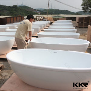 New Design Resin Stone Solid Surface Freestanding Bathtub pictures & photos