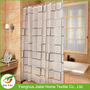 Cheap Grid-Point Distribution PEVA Contemporary Waterproof Shower Curtains pictures & photos