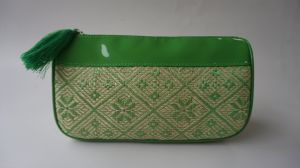 Environmental Material Green Straw Material Cosmetic Bag pictures & photos