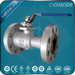 RF Flanged Ends One Piece Ball Valve pictures & photos