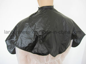 Fashion Hair Cutting Capes with Velcro Around The Neck pictures & photos