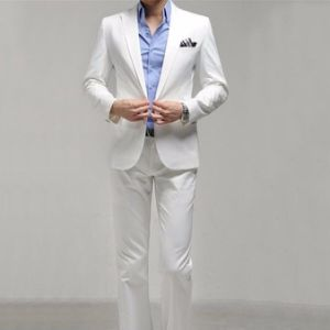 White Color Men Party Suit for Wedding pictures & photos