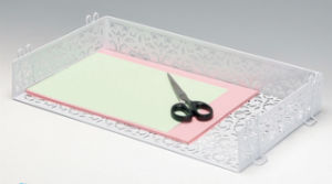 Unique Desk Supplies/ Metal Mesh Stationery File Tray/ Office Desk Accessories pictures & photos