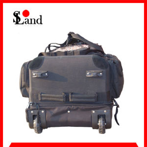 Police High Capacity Black Wheeled Luggage Bag pictures & photos