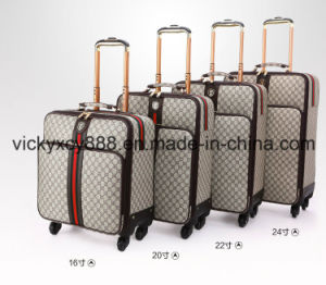 PU Business Travel 4 Wheels Trolley Luggage Case (CY3578) pictures & photos