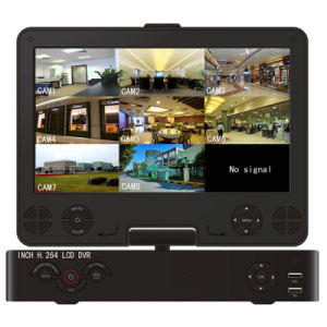 """3G WiFi HDMI P2p 8chs 960h DVR/NVR with 10.5"""" LCD pictures & photos"""