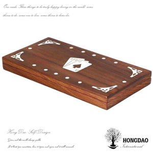 Hongdao Custom Handmade Wooden Poker Box with Logo Wholesale_L pictures & photos