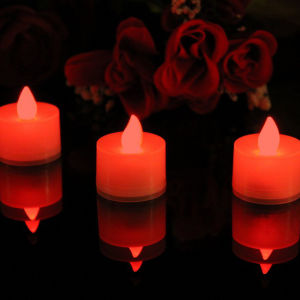 Red Decorative Chrstmas Flameless Candle Tea Light pictures & photos