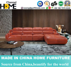European Modern L Shape Sectional Leather Sofa with Headrest Adjustable (HC2023) pictures & photos