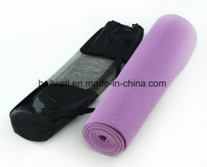Extra Thick High Density Exercise Fitness Yoga Mat with Carrying Strap pictures & photos