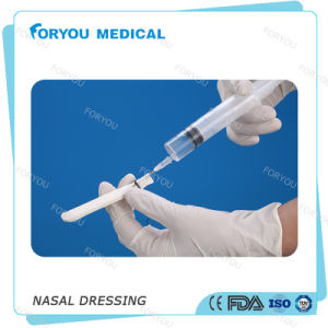 Hemostatic Nasal Packing Merocele Epistaxis Merocel Nasal Dressing with Airway pictures & photos