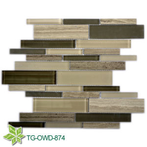 Mixed Colors Glass Crystal Mosaic Tile (TG-OWD-874) pictures & photos