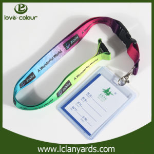 Promotion Polyester PVC Cardholder Neck Lanyard with Safety Break Buckle