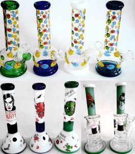 Hb King 2017 New Arrival Wholesale Oil Rigs Glass Bubbler Tobacco Pipe Recycler Beaker Base Glass Smoking Pipe pictures & photos