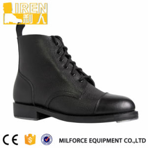 Black Military Ankle Boots with Nail pictures & photos