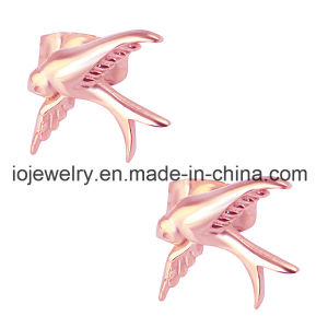 Stainless Steel Bird Rose Gold Stud Earrings pictures & photos