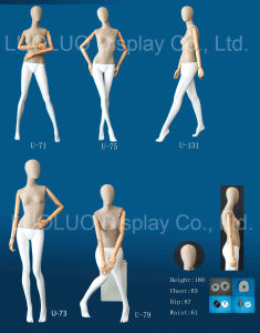 Fashion New Linen Wrapped Female Mannequin with Wooden Arms