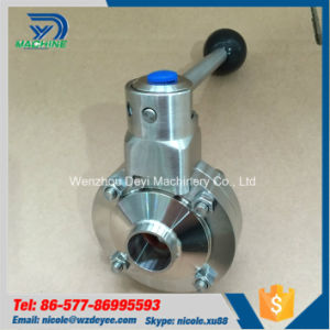 Chinese 3A Stanard Sanitary Welding Butterfly Valve pictures & photos