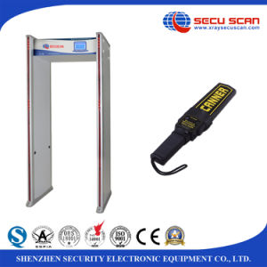 4 LED Lights Walk Through Metal Detector AT-300C Airport Body Scanner pictures & photos