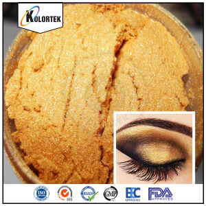 Mica Based Golden Pearl Pigment for Cosmetics pictures & photos