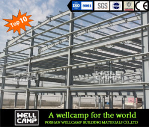 Strong Steel Structure Warehouse with Brick Wall pictures & photos
