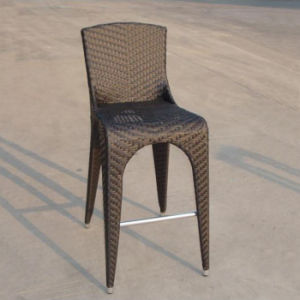 Brown Tall Pointed Foot Chairs Indoor Garden Bar Furniture Cany Wicker Rattan Pub Chair and Table pictures & photos