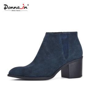 Lady Casual Pointed-Toe Shoes High Heels Women Suede Leather Boots pictures & photos