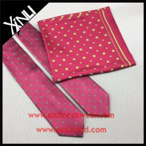 Handmade Men Jacquard Woven Silk Tie with Matching Scarf pictures & photos