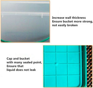 HDPE/PP Food Safe Clear Plastic Storage Box