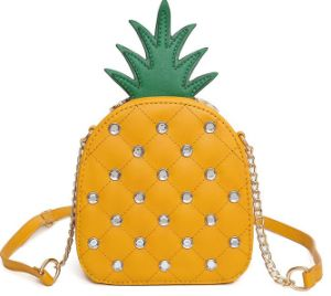 PU Leather Pineapple Bag Metallic Pineapple Bag