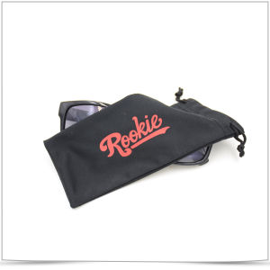 Promotional Microfiber Screen Printing Eyeglasses Pouch with Drawstring pictures & photos