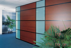 Modern Office Wooden Aluminum Glass Partition Wall (NS-NW333) pictures & photos