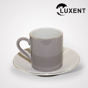 China Custom Ceramic Banquet Small Cup and Saucer