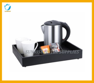 Black Leatherette Hospitality Tray & Kettle for Hotel pictures & photos