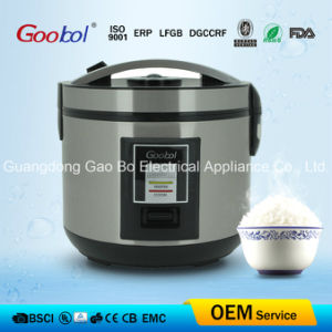 Special Lid Stainless Steel Deluxe Rice Cooker, Black Panel pictures & photos