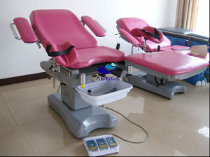 AG-C102 Hot Sale Electric Adjusted Hospital Gynecology Examination Bed pictures & photos