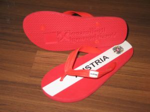 Branded PVC Strap EVA Sole Flip Flop Sandals pictures & photos