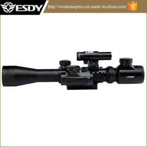 3-9X40eg Red Green DOT Riflescope W Red Laser Sight pictures & photos