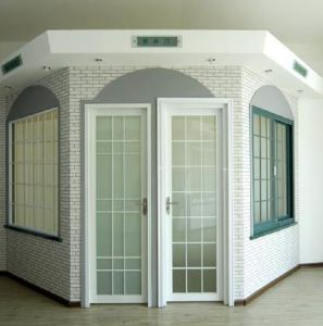 Woodwin Double Tempered Glass Thermal Break Aluminum Casement Door/ French Door pictures & photos