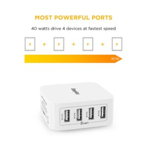 4-Port USB Wall Charger with Foldable Plug pictures & photos