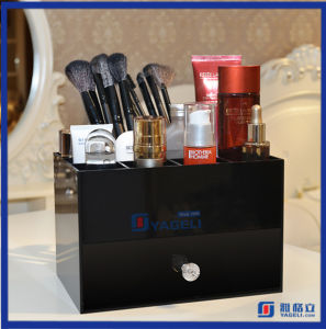 Tabletop Makeup Brush Holder Acrylic Cosmetic Organizer with Drawers pictures & photos