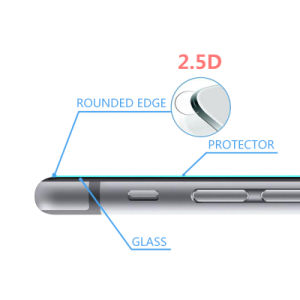 2.5D Full Cover Mobile Phone Glass Screen Protector for iPhone 6 pictures & photos