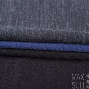 Machine Wash Wool Fabric with Good Elasticity for Nightdress in Navy Blue pictures & photos
