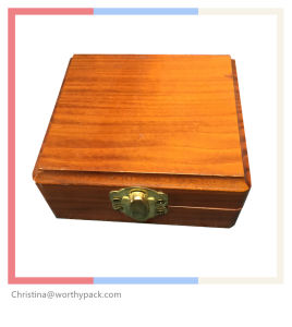 Wooden Storage/Packaging/Gift Box with Metal Lock