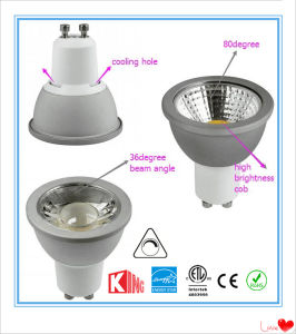 ETL Energy Star 2700k 7W GU10 120V LED Spotlights Dimmable