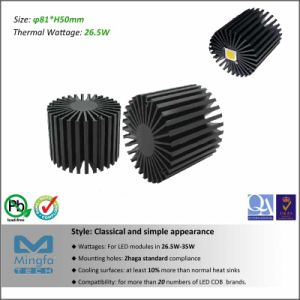 Diameter 81mm Height 80mm Thermal Resistance Rth 1.6 C/W CREE LED Aluminum Heat Sink